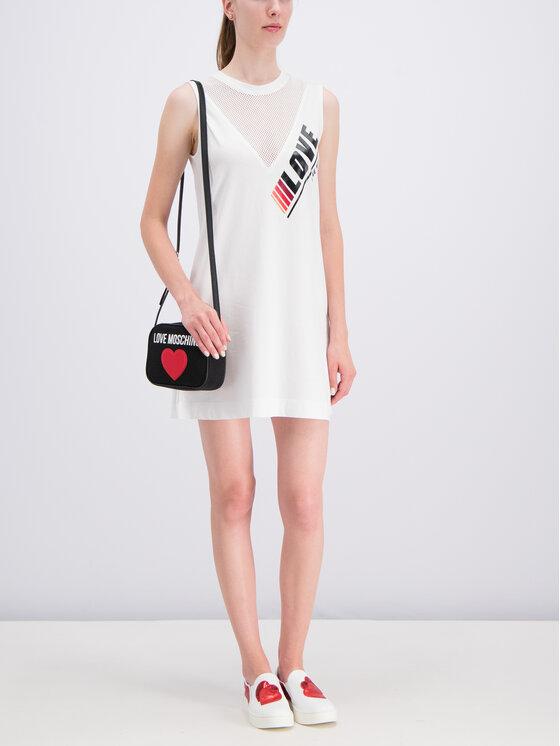 LOVE MOSCHINO LOVE MOSCHINO Sukienka codzienna W5A9701M3517 Biały Regular Fit
