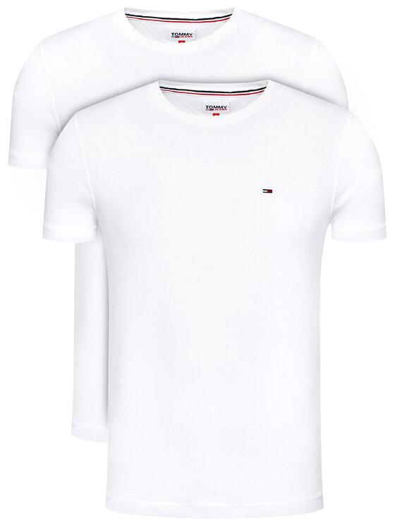 Tommy Jeans 2 marškinėlių komplektas 2Pack Cneck Tees DM0DM10705 Balta Regular Fit