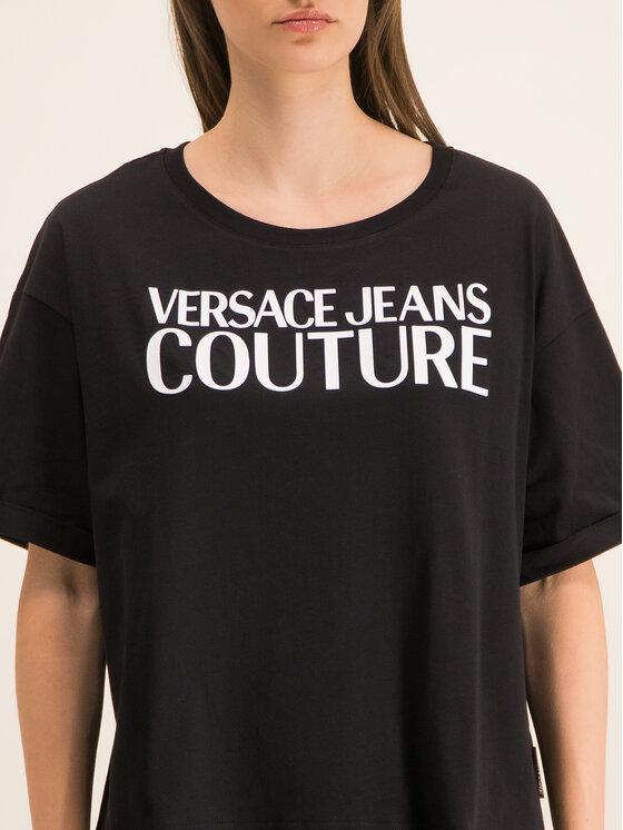 Versace Jeans Couture Versace Jeans Couture Póló B2HUA7HT Fekete Oversize