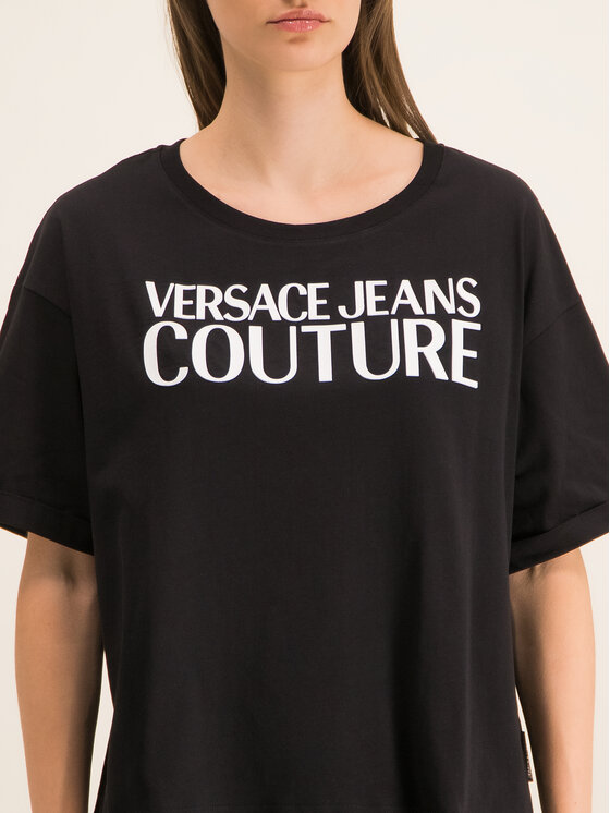Versace Jeans Couture Versace Jeans Couture Tričko B2HUA7HT Čierna Oversize