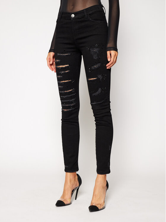 My Twin jeansy_skinny_fit 202MP2220 Juoda Skinny Fit