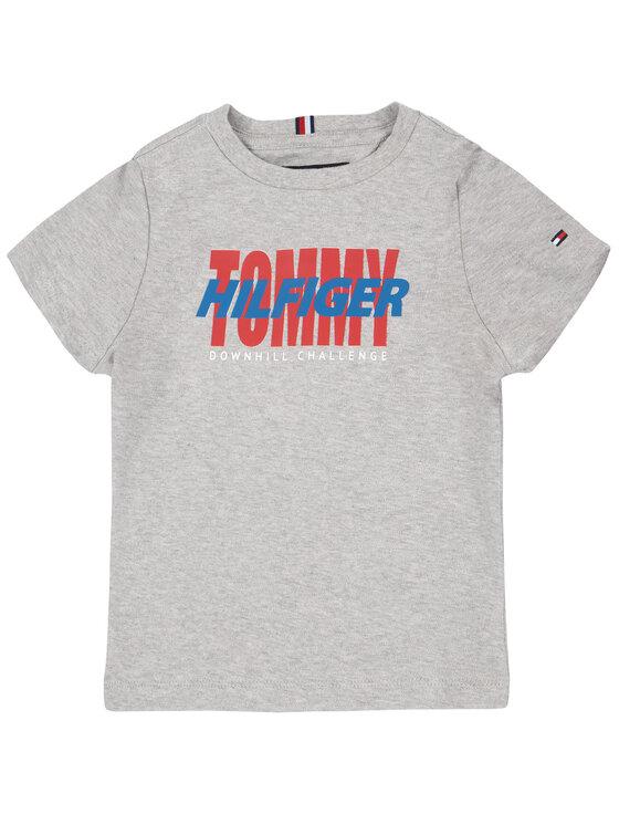 TOMMY HILFIGER TOMMY HILFIGER Póló Alpine KB0KB05396 M Szürke Regular Fit