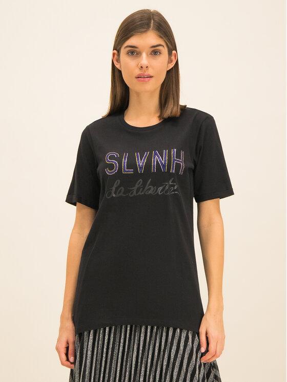 Silvian Heach Silvian Heach T-Shirt Stitten PGA19022TS Schwarz Regular Fit