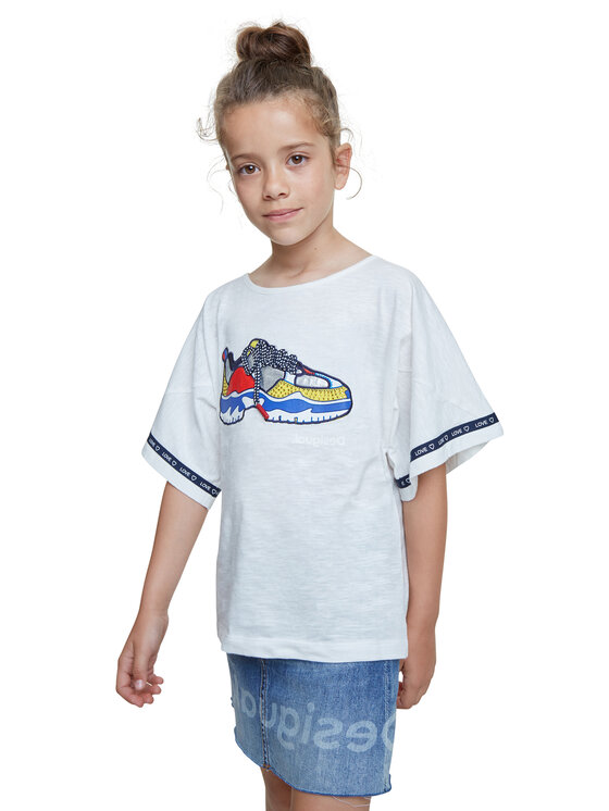 Desigual Desigual T-Shirt Derby 20SGTK21 Biały Regular Fit