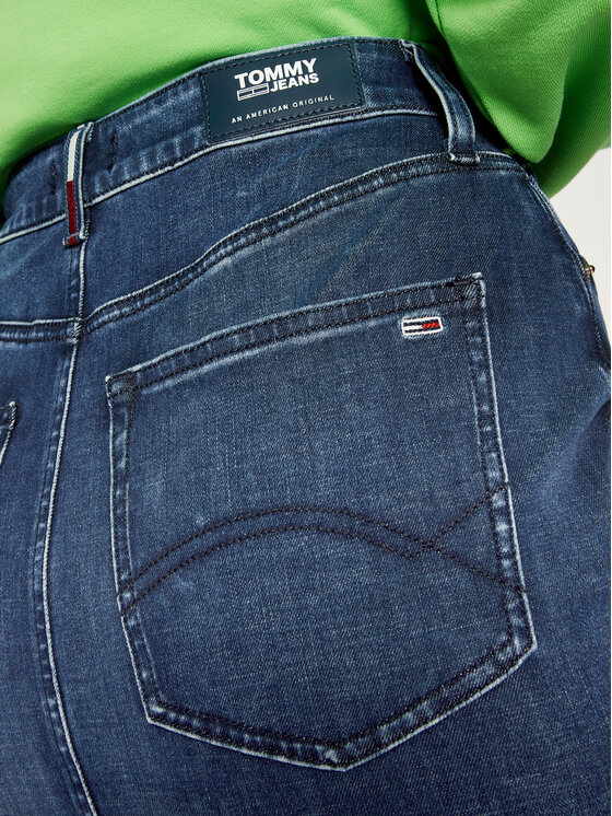 Tommy Jeans Tommy Jeans Spódnica jeansowa Dyadk DW0DW08132 Granatowy Skinny Fit