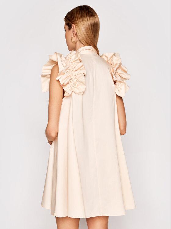 Imperial Imperial Sukienka koktajlowa AA5TBBE Beżowy Regular Fit
