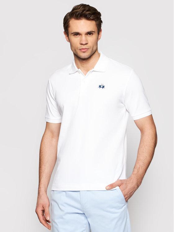 La Marine Polo marškinėliai BPMP01 PK031 Balta Regular Fit
