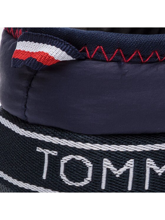Tommy Hilfiger Tommy Hilfiger Pantofole Downslipper Patch FW0FW04182 Blu scuro