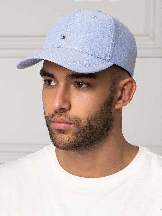 Tommy Hilfiger Tommy Hilfiger Καπέλο Jockey BB Cap Chambray AM0AM04655 Μπλε