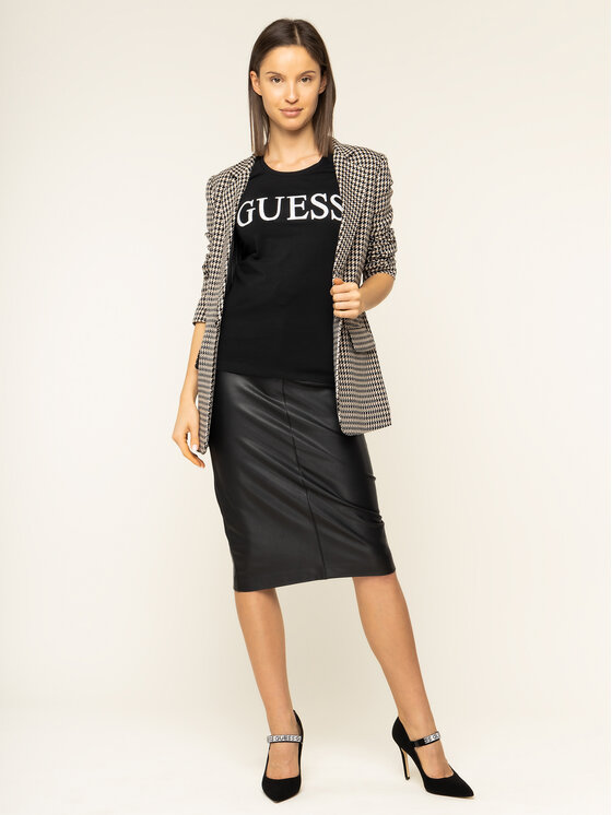 Guess Guess T-shirt Crystal W01I74 J1300 Noir Regular Fit