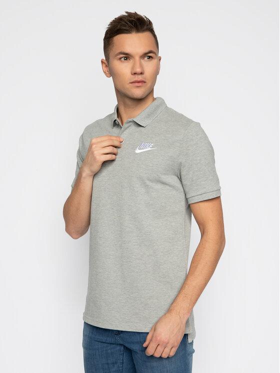 Nike Nike Тениска с яка и копчета Sportswear 909746 Сив Standard Fit