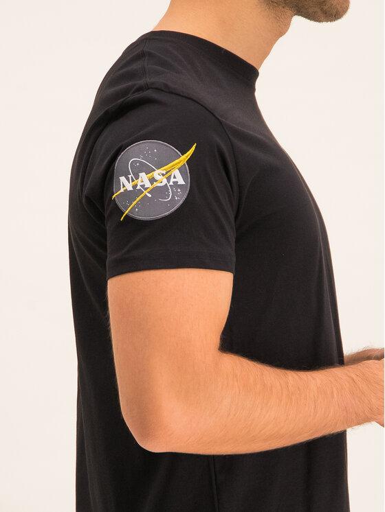 Alpha Industries Alpha Industries Tričko Nasa 176506 Čierna Regular Fit