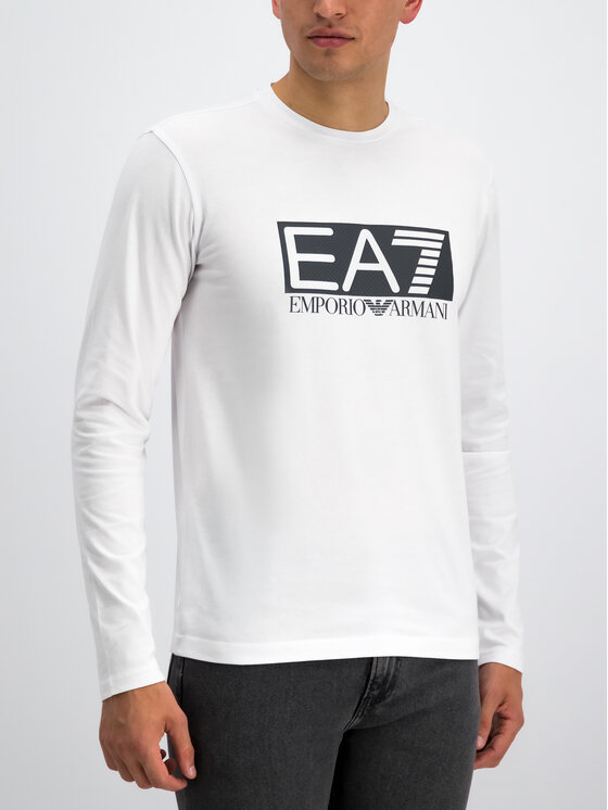 EA7 Emporio Armani EA7 Emporio Armani Hosszú ujjú 3GPT64 PJ03Z 1100 Fehér Regular Fit