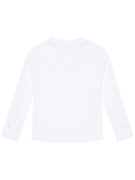 Tommy Hilfiger Tommy Hilfiger Bluza Essential KG0KG05764 D Biały Regular Fit