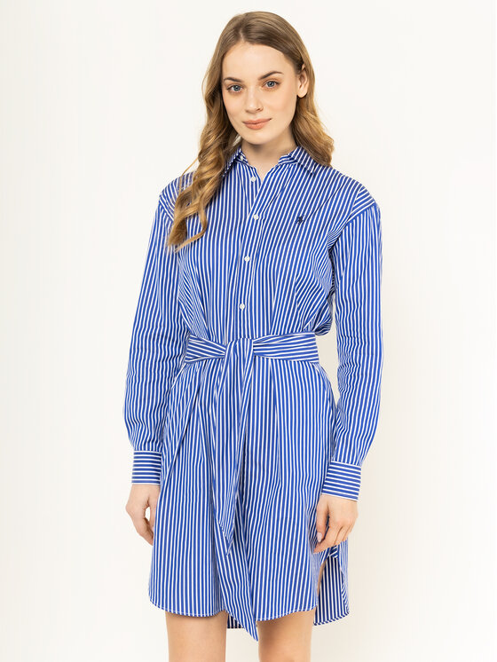 Polo Ralph Lauren Polo Ralph Lauren Rochie tip cămașă Striped 211781122 Albastru Regular Fit