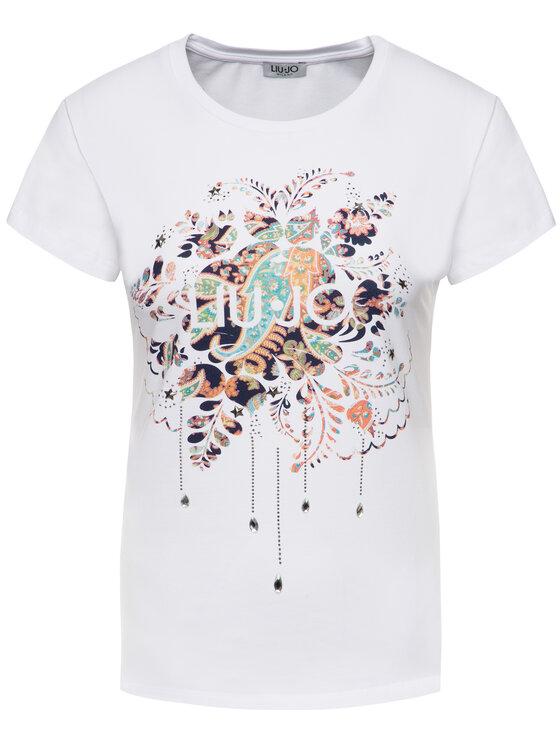 Liu Jo Liu Jo T-Shirt F69443 J9944 Biały Regular Fit