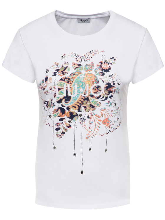 Liu Jo Liu Jo T-shirt F69443 J9944 Blanc Regular Fit