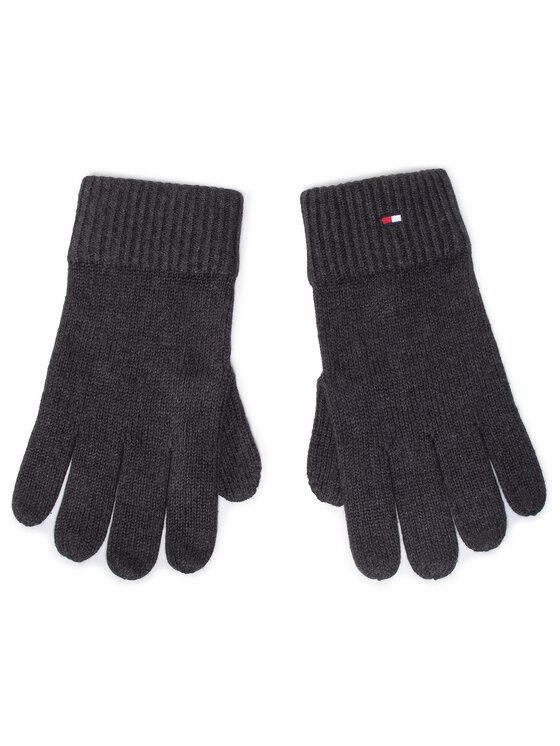 Tommy Hilfiger Tommy Hilfiger Rękawiczki Męskie Pima Cotton Gloves AM0AM06591 Szary