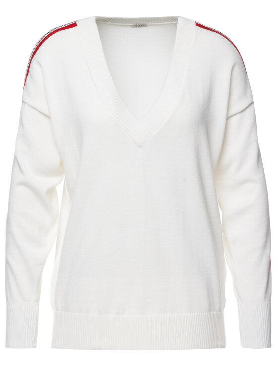 Guess Guess Пуловер Julie W93R81 Z2G40 Бял Regular Fit