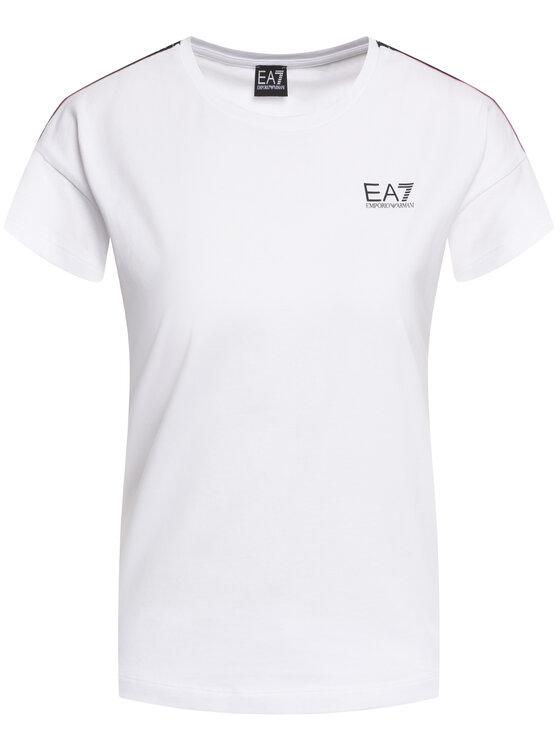 EA7 Emporio Armani EA7 Emporio Armani Tričko 3HTT26 TJ29Z 1100 Biela Regular Fit
