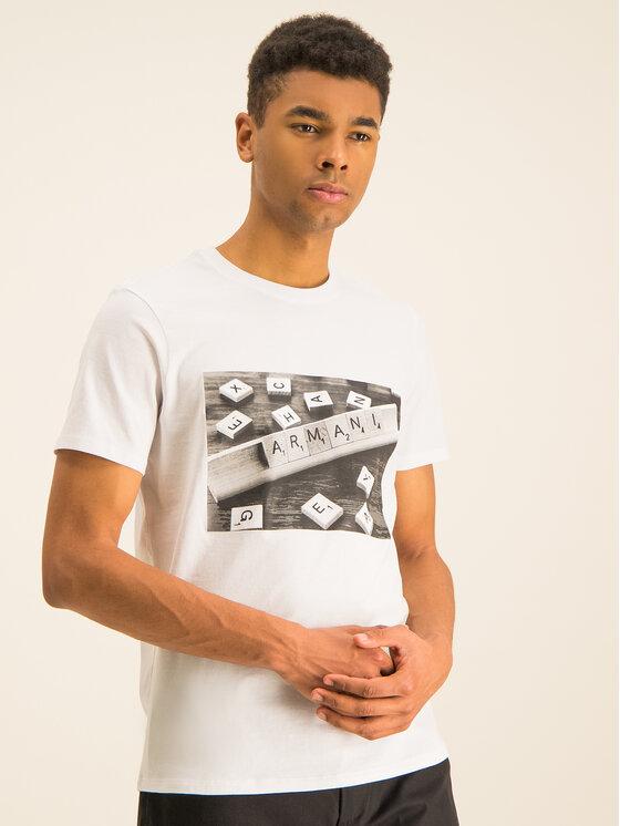 Armani Exchange Armani Exchange T-Shirt 3HZTBC ZJ2HZ 1100 Bílá Regular Fit