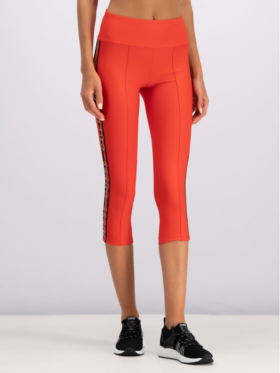 Guess Guess Leggings O92A39 MC01P Rosso Skinny Fit