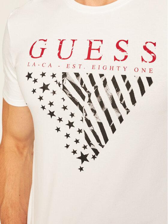 Guess Guess T-Shirt Reyn M73I21 J1300 Biały Super Slim Fit