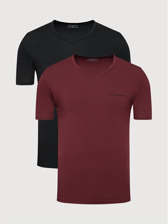 Emporio Armani Underwear 2 marškinėlių komplektas 111849 1A717 12976 Juoda Regular Fit