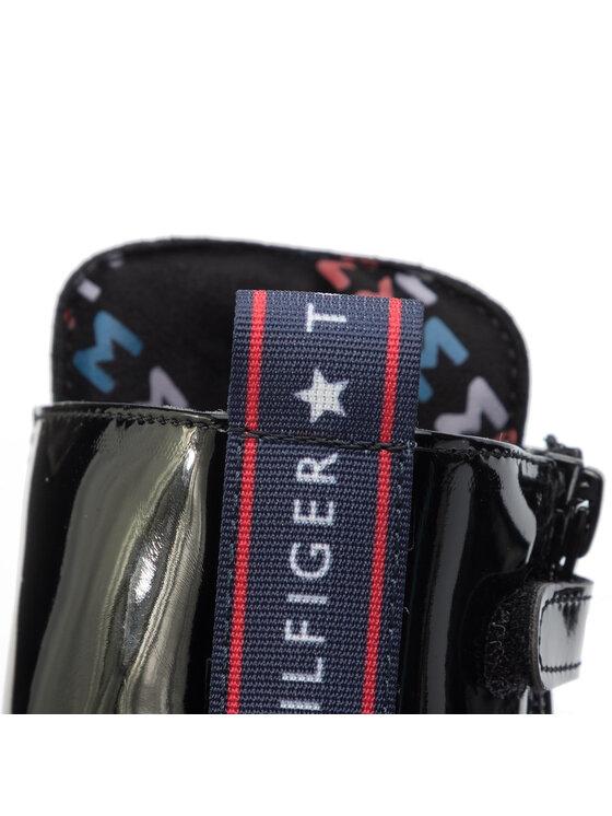 Tommy Hilfiger Tommy Hilfiger Polokozačky Lace-Up Bootie T4A5-30445-0765 D Černá