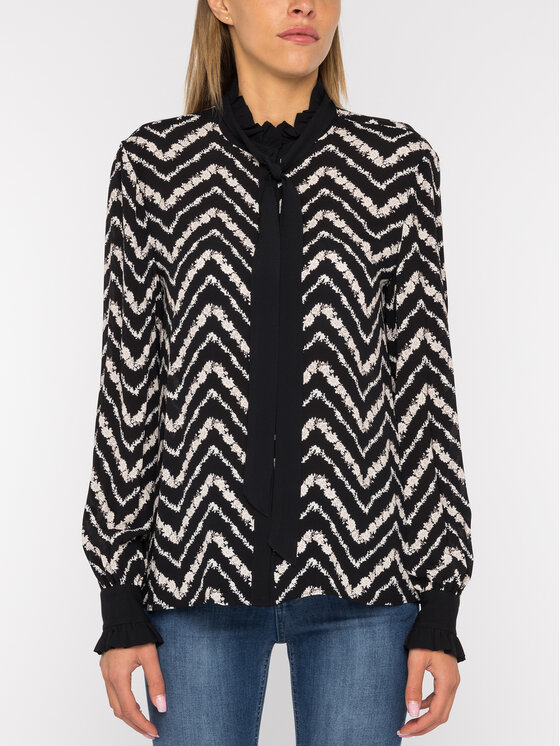 TwinSet TwinSet Camicia Stampa Chevron 192TP2529 Nero Regular Fit
