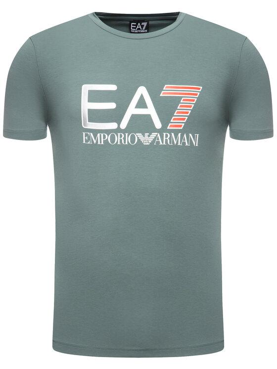 EA7 Emporio Armani EA7 Emporio Armani T-Shirt 3HPT05 PJ03Z 1858 Πράσινο Regular Fit