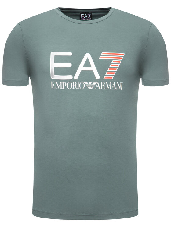 EA7 Emporio Armani EA7 Emporio Armani Тишърт 3HPT05 PJ03Z 1858 Зелен Regular Fit