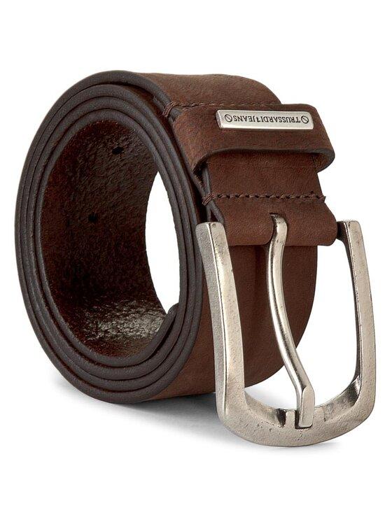 Trussardi Jeans Trussardi Jeans Ζώνη Ανδρική Placchetta Passante Cintu 71C552 90 Καφέ