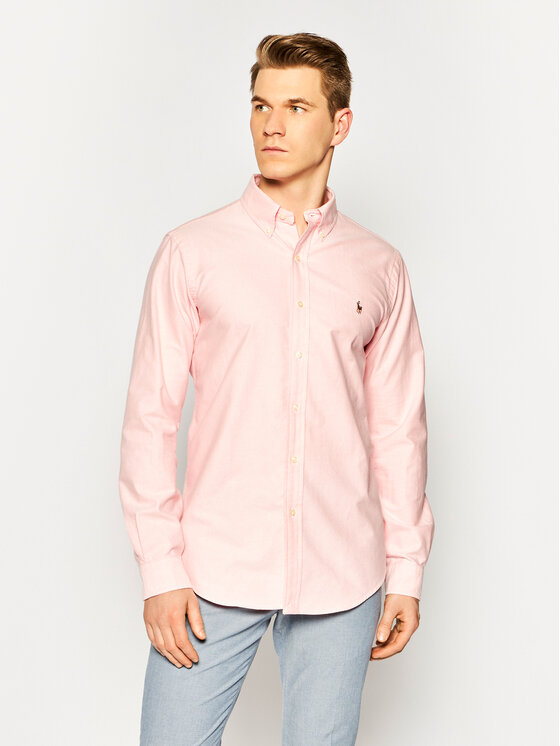 Polo Ralph Lauren Polo Ralph Lauren Риза Bsr 710792041 Розов Custom Fit