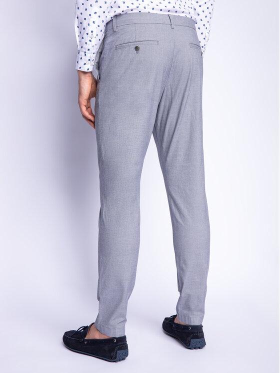 Strellson Strellson Kalhoty z materiálu 11 Sax-W 30019343 Šedá Slim Fit