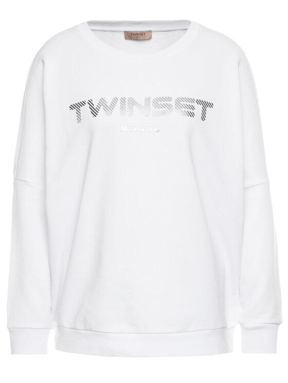 TwinSet TwinSet Mikina 201TP2083 Biela Oversize