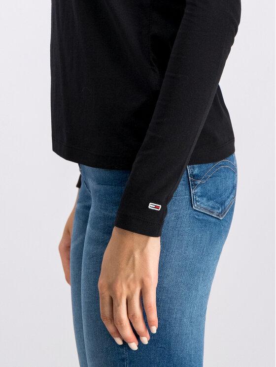 Tommy Jeans Tommy Jeans Blúz Tjw Square DW0DW07159 Fekete Regular Fit
