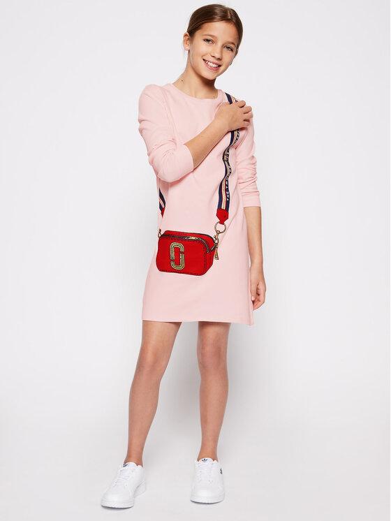 Little Marc Jacobs Little Marc Jacobs Sukienka codzienna W12333 S Różowy Regular Fit