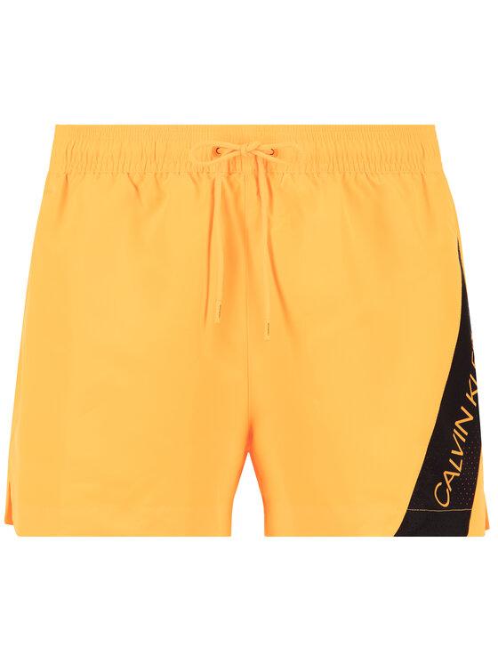 Calvin Klein Swimwear Calvin Klein Swimwear Плувни шорти Blocking KM0KM00505 Оранжев Regular Fit