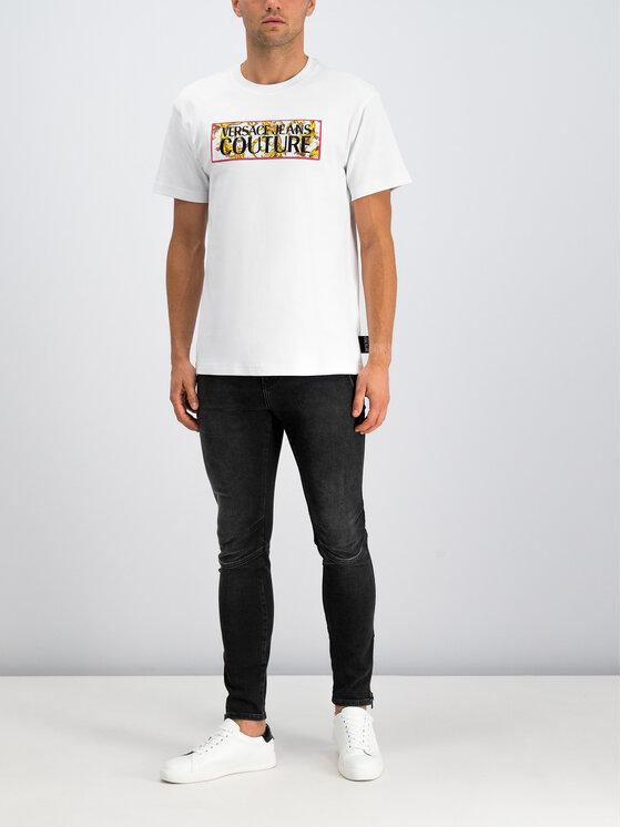 Versace Jeans Couture Versace Jeans Couture T-Shirt B3GUA7TG Biały Regular Fit