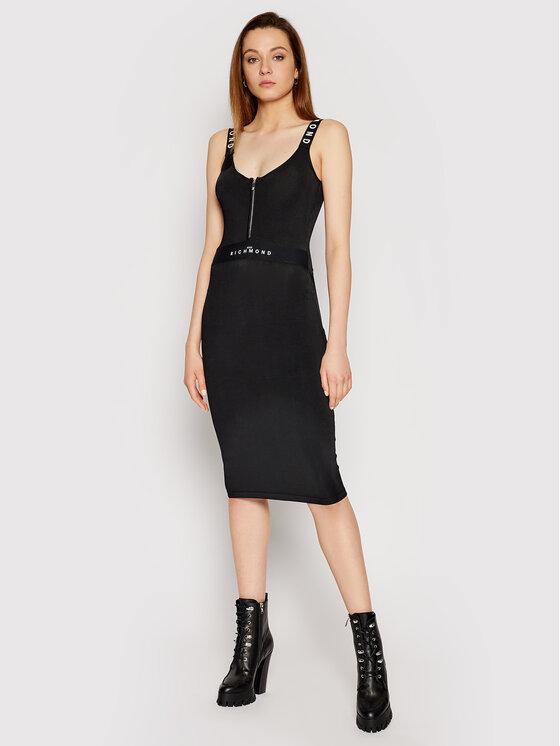 John Richmond Sukienka dzianinowa Arkie RWP21023VE Czarny Slim Fit