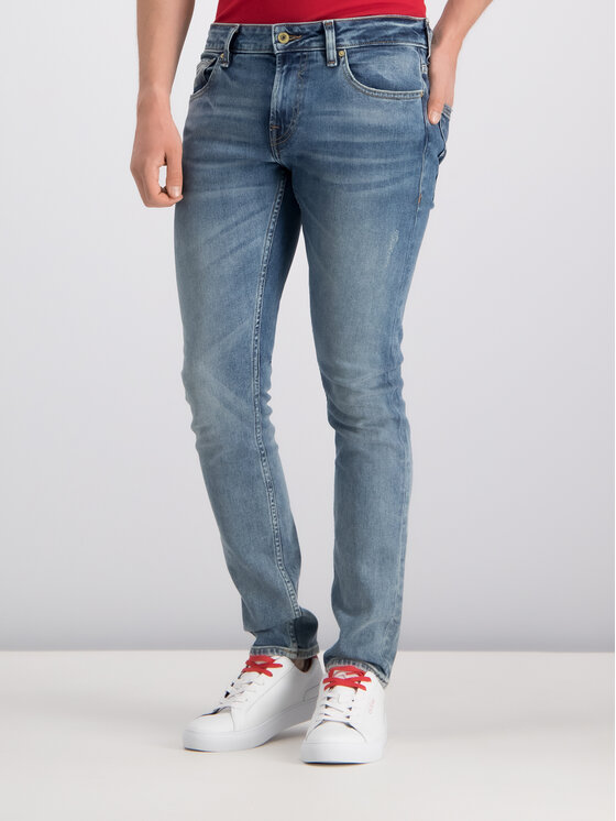 Guess Guess jeansy_skinny_fit M93AN1 D3I31 Tamsiai mėlyna Skinny Fit