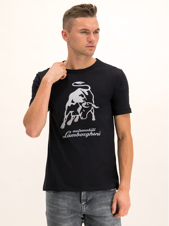 Lamborghini Lamborghini T-Shirt B3XUB7S8 Czarny Regular Fit