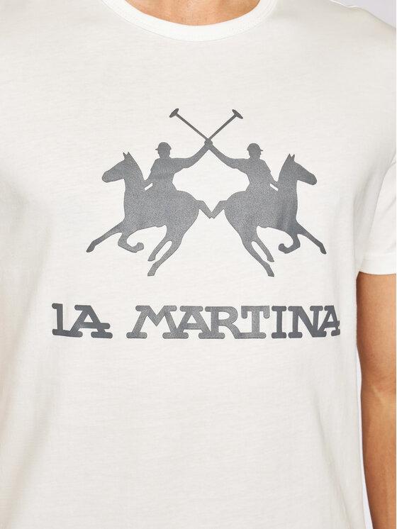 La Martina La Martina T-Shirt Jersey CCMR01 JS206 Λευκό Regular Fit