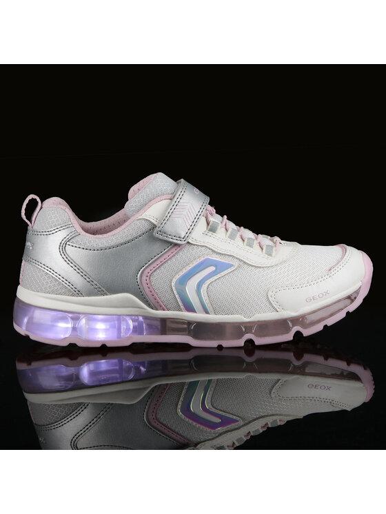 Geox Geox Sneakersy J Android G. A J0245A 014AJ C0434 DD Biały