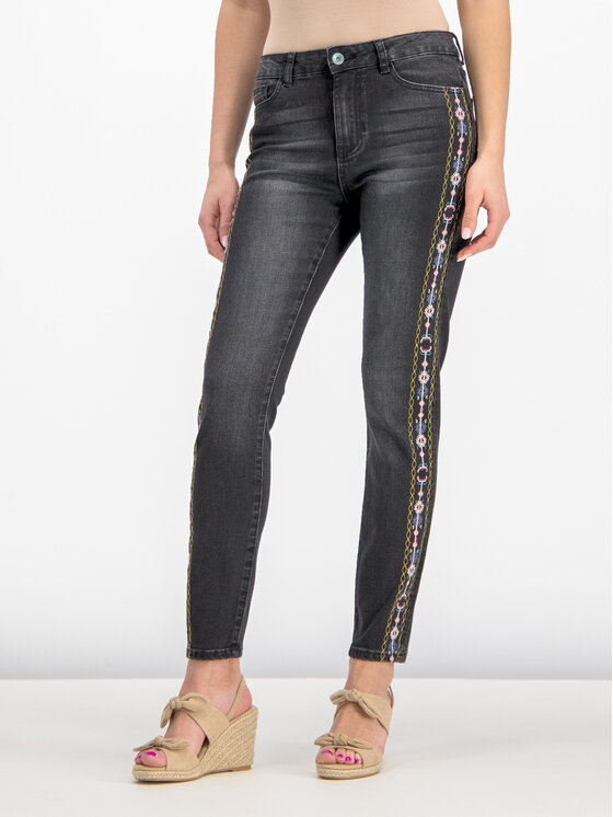 Desigual Desigual Jeansy Slim Fit 19SWDD35 Czarny Slim Fit