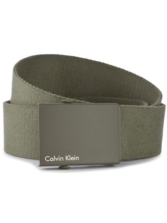 Calvin Klein Calvin Klein Herrengürtel Canvas Adj Plaque Belt K50K500972 80 Grün