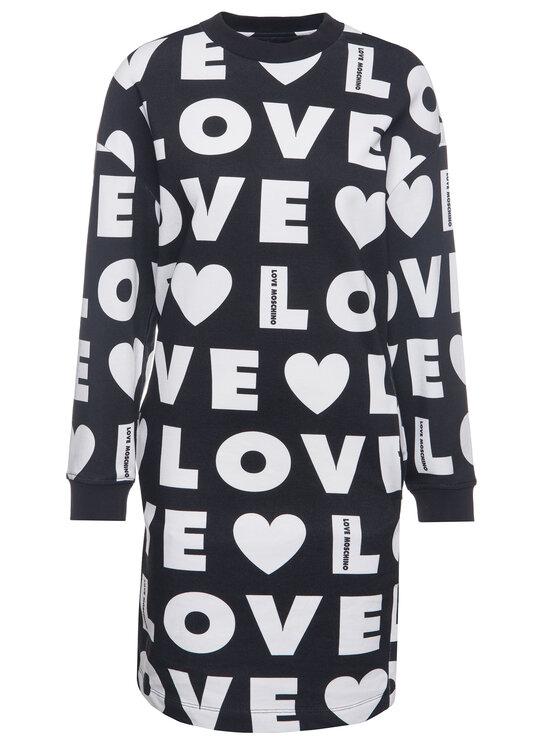 LOVE MOSCHINO LOVE MOSCHINO Φόρεμα υφασμάτινο W5B2000M 4139 Μαύρο Regular Fit