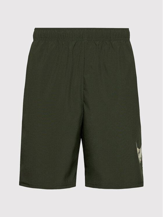 Nike Nike Szorty sportowe Flex Short Camo CZ2429 Zielony Standard Fit
