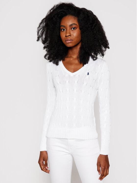 Polo Ralph Lauren Polo Ralph Lauren Пуловер Kimberly 211580008005 Бял Regular Fit